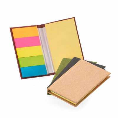 Crazy Ideas - Bloco de anotações com capa dura, stiky notes e miolo sem pauta na cor amarela. Dimensão Produto: 8,0 x 5,3 x 1,2cm.