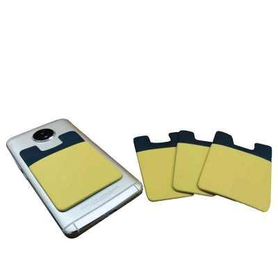 Porta Cartão Emborrachado Bicolor