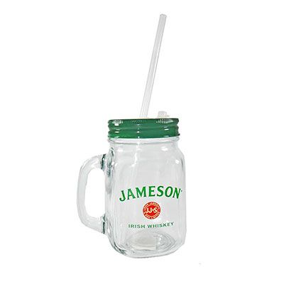 Bright and New - Copo Jar Mug com canudo promocional