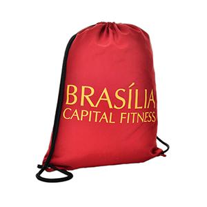brindes-inteligentes - Saco mochila em tactel. 28 x 40 cm e personalização em uma cor.