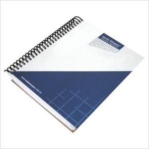 Agenda Ecológica Personalizada com miolo e capa rígida em papel reciclado - Acabamento wire - Medidas: 15 x 21 cm.