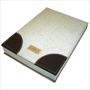 Ecofábrica - Bloco de Anotações ecológico personalizado, com capa removível em retalhos de couro legítimo - Acompanha bloco com 150 folhas em papel reciclado sem i...