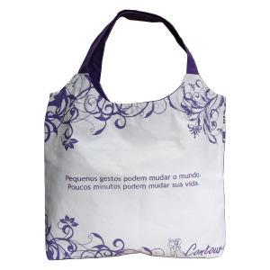 ecofabrica - Bolsa personalizada - Medidas: 51 x 49 x 10 cm (tipo envelope - sem lateral). Fabricada em lona 100% algodão.