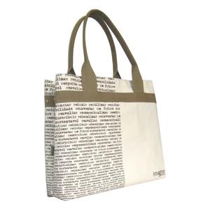 Bolsa / Ecobag ecológica personalizada em lona de algodão (artigo cru 390 gr / m²) - Compartimento principal com acesso livre.
