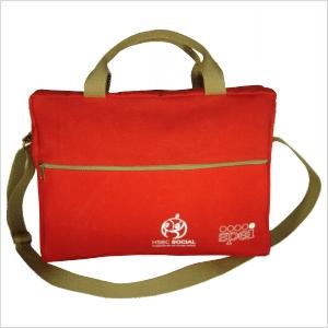Bolsa ecológica personalizada, em lona de algodão reciclada ou nova colorida (artigo 490 gr / m²) - Compartimento acesso por zíper.