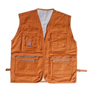 Colete Personalizado - Tamanho padrão adulto (62 x 74 cm). Material: lona 100% algodão com espessura de 200 gr / m2. Fechamento por zíper. - Ecofábrica