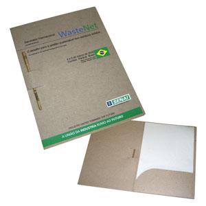 Ecofábrica - Kit ecológico personalizado para Eventos, em papel 100% reciclado (originado através da reciclagem de embalagens tetra-pack).