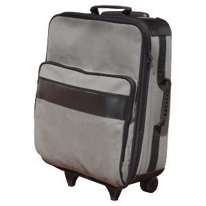 Mala de viagem personalizada em lona - Medidas: 260 x 400 x 570 mm (A x L x P) - Lona 100% algodão - Cantoneiras externas em couro legítimo preto fosc... - Ecofábrica
