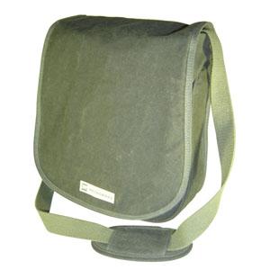 ecofabrica - Mochila Ecológica Personalizada em lona de algodão, colorida verde-musgo ou lona reciclada de cargas de caminhão.