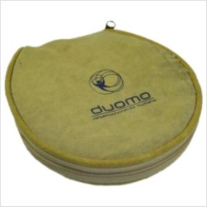 ecofabrica - Porta-CD ecológico personalizado, em lona de algodão reaproveitada de cargas de caminhão - Capacidade para 20 cds.