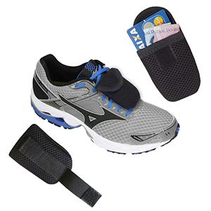 ecofabrica - Porta objetos para tênis, corpo em Spacer, velcro nas costas para fixação, compartimento único fechado com aba e velcro. Tamanho 10 x 5 cm x 1 cm