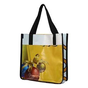 Ecofábrica - Ecobag - Sacola de compras em retalhos de Banner