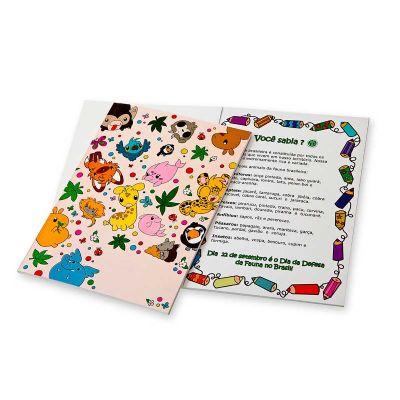 Unity Brindes - Livro de atividades infantil com personalização em silk screen. Variedade e criatividade para atender a todas as possibilidades de divulgar sua marca!