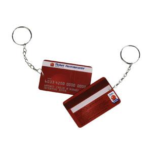 IBC Cartões - Chaveiro personalizado com o formato de cartão.