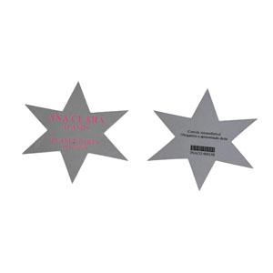 IBC Cartões - Marcador de página personalizado com o formato de estrela.