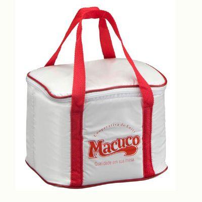 - Bolsa térmica 10 lts  aproximadamente  (com saco interno )  ** macuco  Confeccionada em laminado de pvc sansuy , isolação térmica espuma ,com alças em...