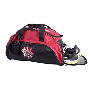 Bolsa com alça e porta-tênis.