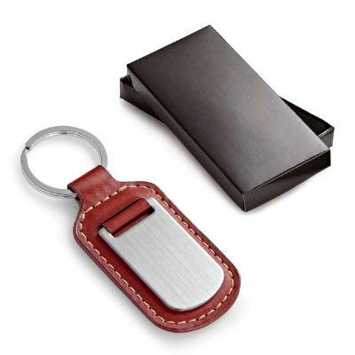 Artebelli Promocional - Chaveiro de couro e metal