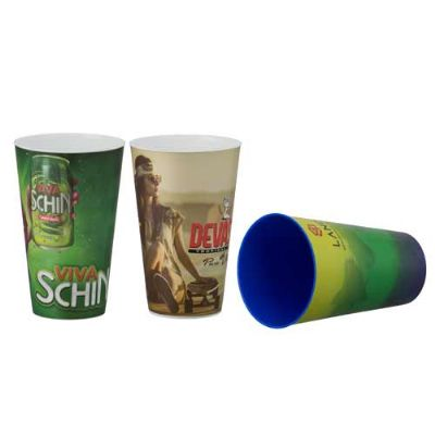 Artebelli Promocional - Copo 550 ml em PS Cristal com tampa e canudo liso