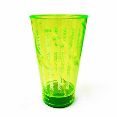 Artebelli Promocional - COPO COM LED em PS Cristal com capacidade de 700 ml, acende o fundo ao colocar líquidos.  Dimensões: Altura: 16,5cm; Diâmetro superior: 10cm, Diâmetro...