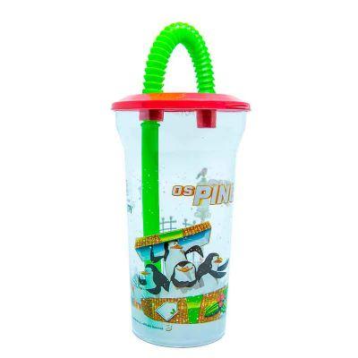 Artebelli Promocional - Copo capacidade 400 ml com canudo sanfonado