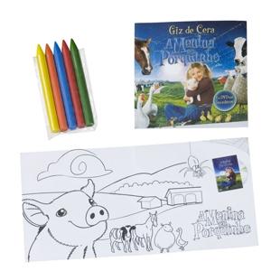 Artebelli Promocional - Kit de pintura personalizado, composto por giz de cera e papel para colorir.Conquiste seus clientes com um produto divertido e totalmente personalizad...