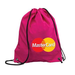Artebelli Promocional - Mochila saco personalizada confeccionada em nylon de alta qualidade com alças e fechamento em cordão. Quantidade mínima: 300 unidades. Ideal para prat...