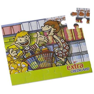 artebelli-promocional - Quebra cabeça impresso em Cromia sobre base/verso de EVA (borracha colorida).