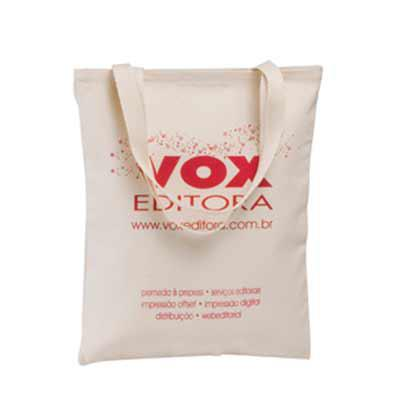 artebelli-promocional - Sacola em algodão cru com alça do mesmo material, personalização em silk. Produto valorizado, resistente e ecológico. Diversas medidas.