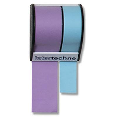 Bloco de sticky notes em rolo. A base possui uma serrilha que permite ter o papel cortado do tamanho que o usuário quiser.