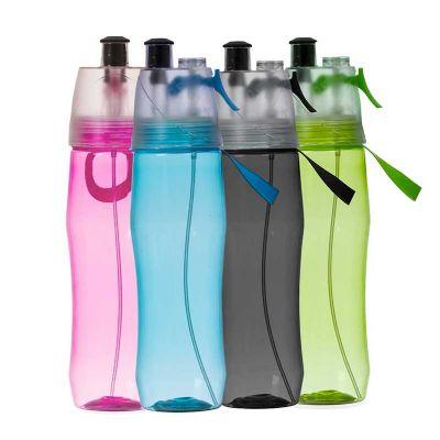 Malgueiro Brindes - Squeeze plástico borrifador 700ml brilhante personalizado