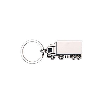 malgueiro-brindes - Chaveiro metálico personalizado em formato de caminhão.