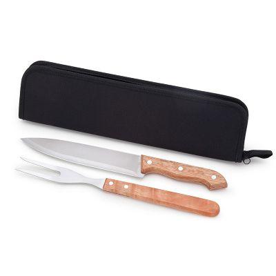 Malgueiro Brindes - Kit churrasco personalizado com 2 peças.