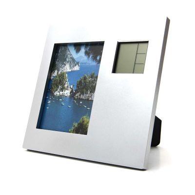 Redd Promocional - Porta retrato com relógio digital