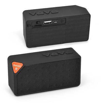 Redd Promocional - Mini caixa de som com gravação personalizada em Silkscreen.