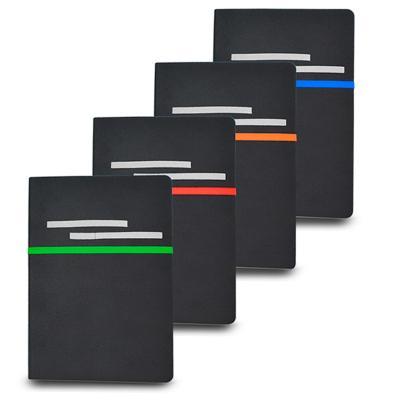 Bloco de Anotações sem Pautas em Material Sintético Personalizado 1