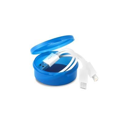 Cabo USB 3 em 1 com Embalagem Personalizado 1