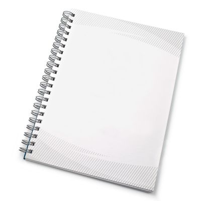 Redd Promocional - Caderno Reciclado Kraft liso. Miolo branco pautado 96 folhas, 192 páginas incluso 8 páginas iniciais, Gravação Silk uma cor