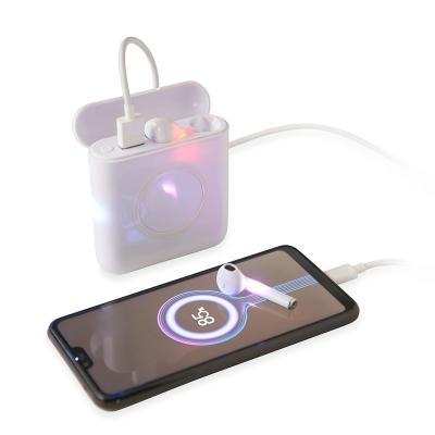 Carregador Wireless Power Bank 5.200mAh com Fone de Ouvido Personalizado 1