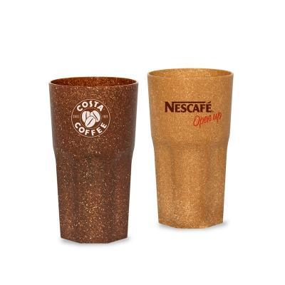 - Copo ecológico personalizado, produzido com 50% de fibra de coco ou fibra de madeira de reflorestamento, com capacidade para 320ml. Ideal para brindes...