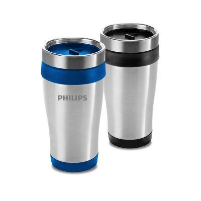 - Copo térmico personalizado produzido em metal e acabamento em plástico PP, com capacidade de 420ml. Possui parede dupla para conservar a bebida por ma...