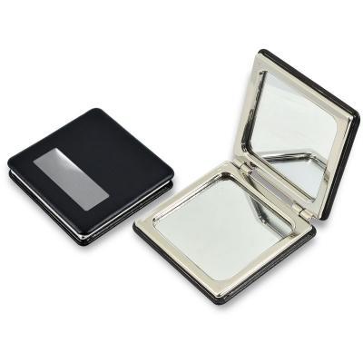 Redd Promocional - Espelho de Metal Personalizado revestido em couro sintético preto. 1