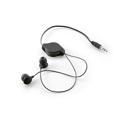 - Fone de ouvido retrátil personalizado com embalagem de non-woven (similar ao tnt), possui fone de ouvido com saída P2, borrachas em silicone confortáv...