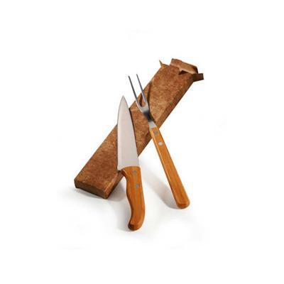 Redd Promocional - Kit Churrasco em Inox e Bambu para Presente 1