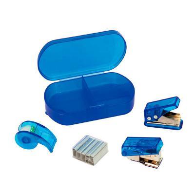 - Kit escritório 4 peças com estojo em PVC resistente. Consultar cores.