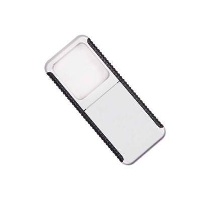 - Lupa com lanterna de plástico resistente e detalhe personalizado na lateral preto.