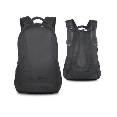 """- Mochila para notebook personalizada produzida em nylon poliéster com 2 compartimentos sendo o principal com bolso interno para notebook ATÉ 15"""", bolso..."""