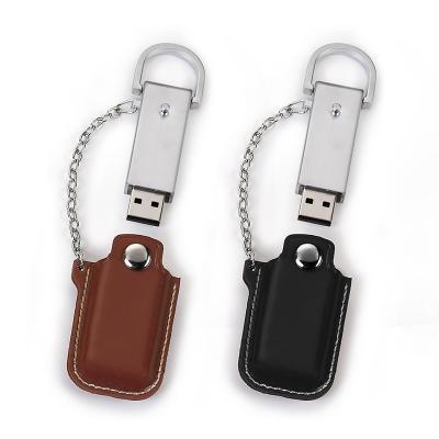 Redd Promocional - Pen Drive 4GB com detalhe em couro Personalizado 1
