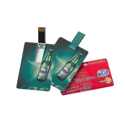 Pen drive 4 GB formato de cartão - Redd Promocional