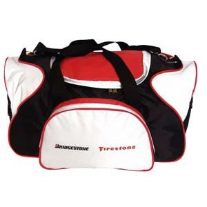 Bolsa esportiva com alça de mão e impressão personalizada.